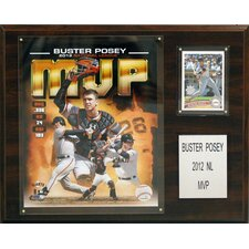 MLB Buster Posey 2012 MVP San Francisco Giants Player Framed Memorabilia Plaque