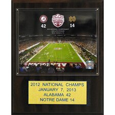 NCAA Football Alabama 2012 Football Champions Plaque