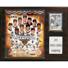 MLB San Francisco Giants 2012 World Series Champions Framed Memorabilia Plaque