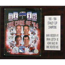 NHL Core Four New York Rangers Player Framed Memorabilia Plaque