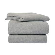 <strong>La Rochelle</strong> Heather Solid Flannel Sheet Set