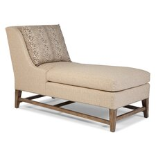 Transitional Pillow Back Chaise Lounge
