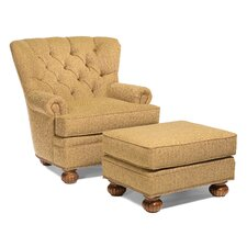 Morgan Tufted Back Chair and Ottoman