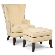 Palti Transitional Chair and Ottoman