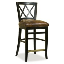 Leather Seat X Back Counter Stool (Set of 2)