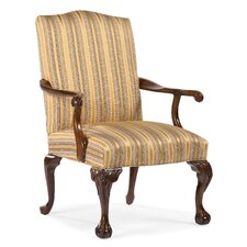 <strong>Fairfield Chair</strong> Ball and Claw Fabric Arm Chair