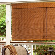 "Imperial Matchstick Bamboo Roll-Up Blind with 6"" Valance in Fruitwood"