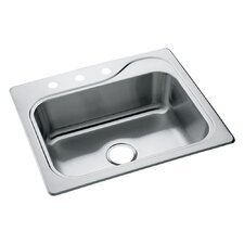 "Southhaven 25"" x 22"" Self Rimming Single Bowl Kitchen Sink"