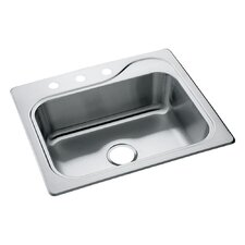 "Southhaven 25"" x 22"" x 8"" Self Rimming Single Bowl Kitchen Sink"