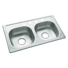 "<strong>Sterling by Kohler</strong> Southhaven 33"" x 19"" Self Rimming Single Bowl Kitchen Sink"