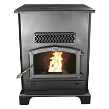 Large 2,000 Square Foot Pellet Heater Stove with Ash Pan