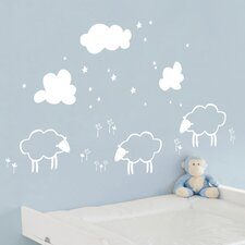 Piccolo Little Sheeps Wall Decal
