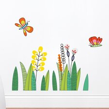 Ludo Butterflies in the Grass Wall Decal
