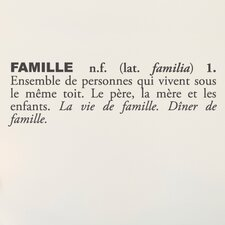 Blabla Famille (French) Wall Decal
