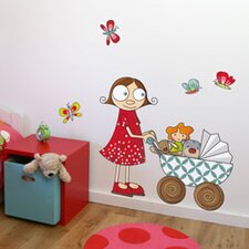 Ludo Lil' Girl with Carriage Wall Decal