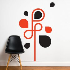 Spot Water Arabesque Wall Stickers