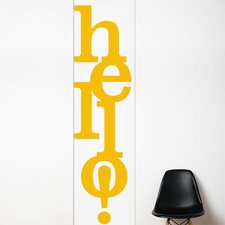 <strong>ADZif</strong> Unik Hello Wall Decal