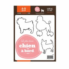 Signal Chien À Board Wall Decal