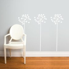 <strong>ADZif</strong> Spot Fire-Flowers Wall Sticker