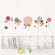 Spot Little Garden Pompom Flowers Wall Decal
