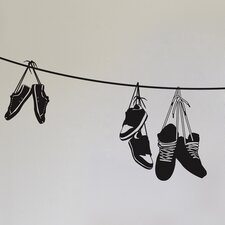 Spot Stringed Shoes Wall Decal