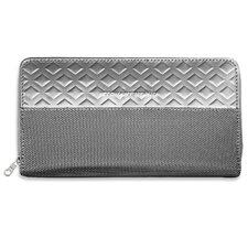 RFID Blocking Monochrome Zipper Travel Wallet