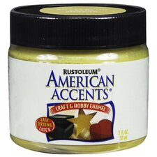 American Accents® Buttercup Craft and Hobby Brush Enamel Paint