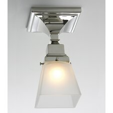 Birmingham One Light Semi Flush Mount with Shade