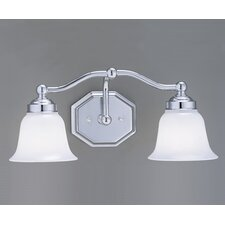 <strong>Norwell Lighting</strong> Trevi Hexagon Shape 2 Light Bath Vanity Light