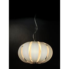 Pique 1 Light Oval Globe Pendant
