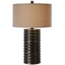 "Wave 28.5"" H Table Lamp with Drum Shade"