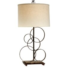 "Acropolis 33"" H Table Lamp with Drum Shade"