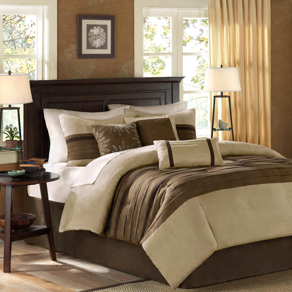 Madison Park Palmer 7 Piece Comforter Set in Natural