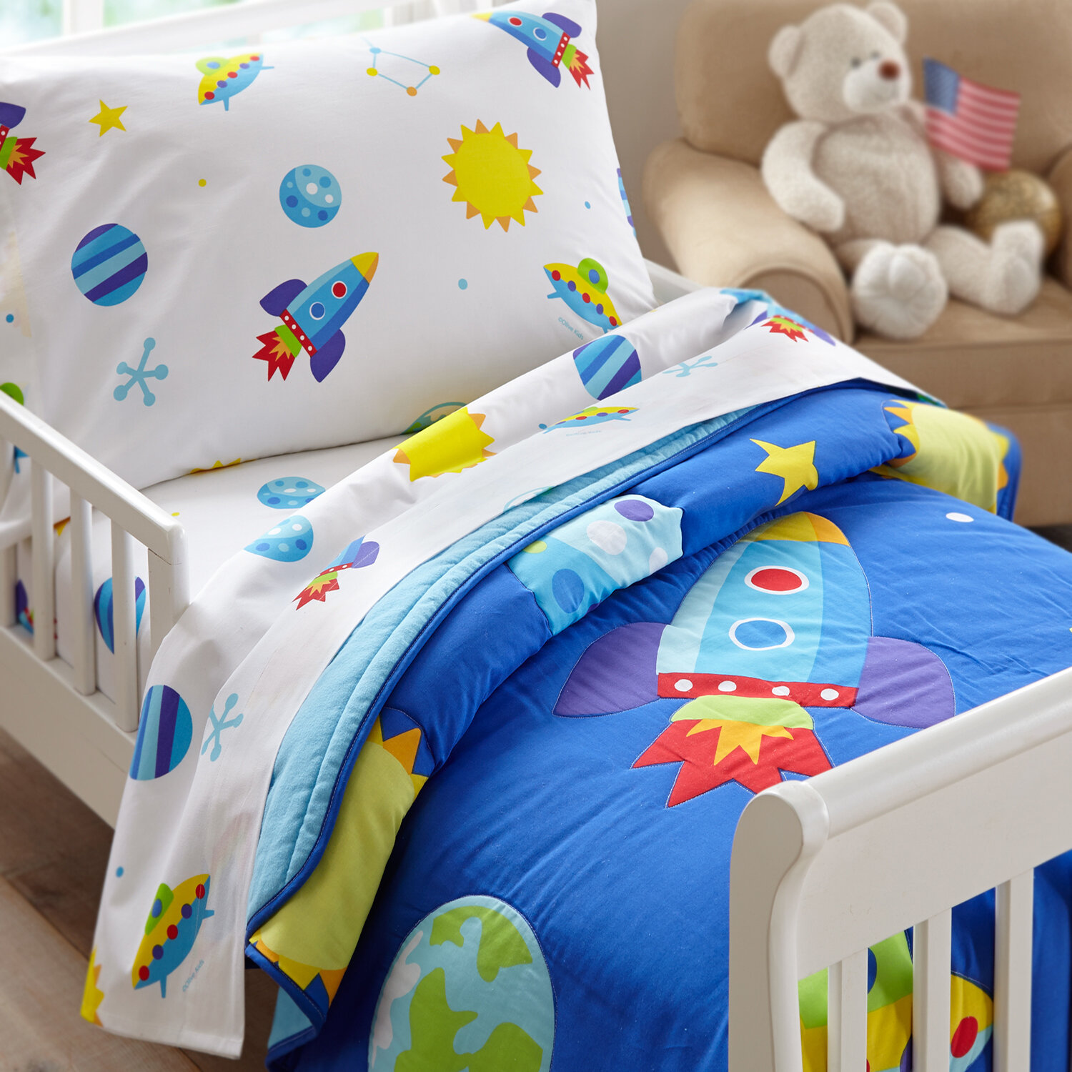 toddler space bedding