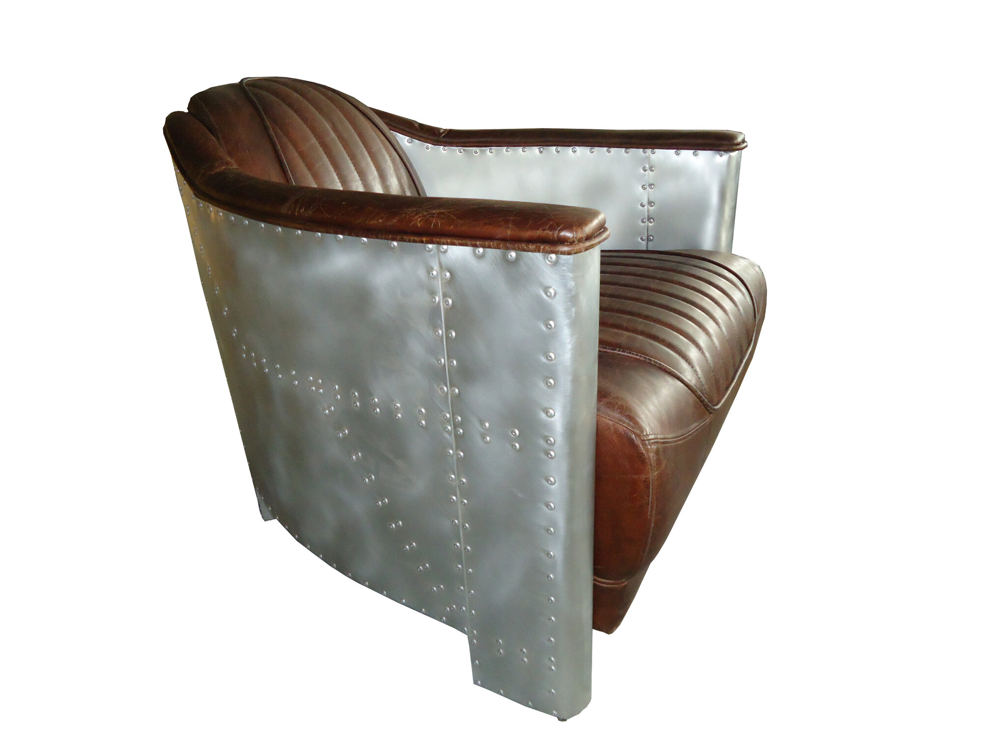 30 Quot Aviator Armchair Vintage Brown Cigar Leather Wood