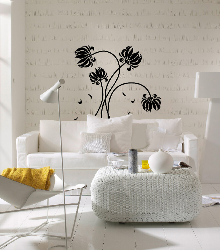 Awesome Euro Flowers Wall Decal