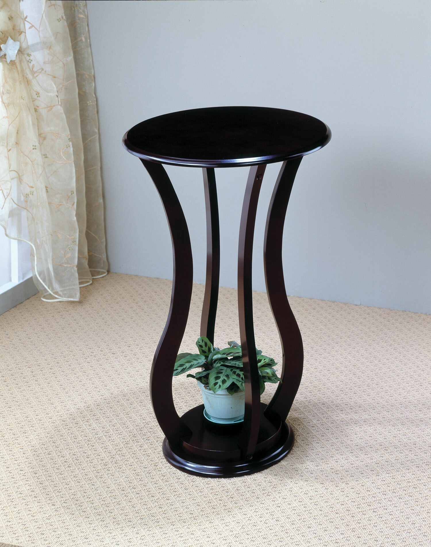 Pedestal Plant Stands ~ Pedestal plant stand table cherry wood furniture display