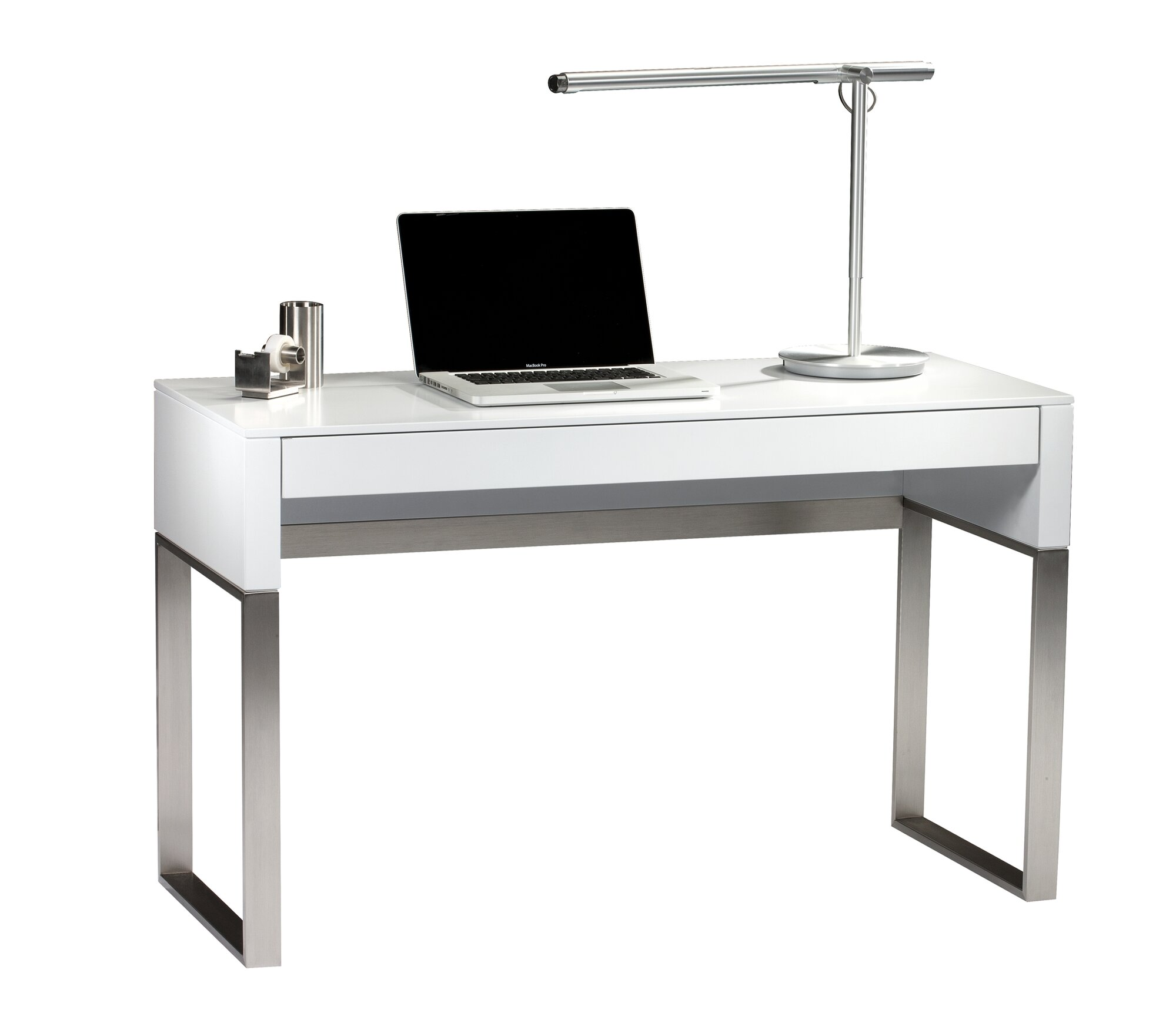 White Office Desk Modern BDI Cascadia