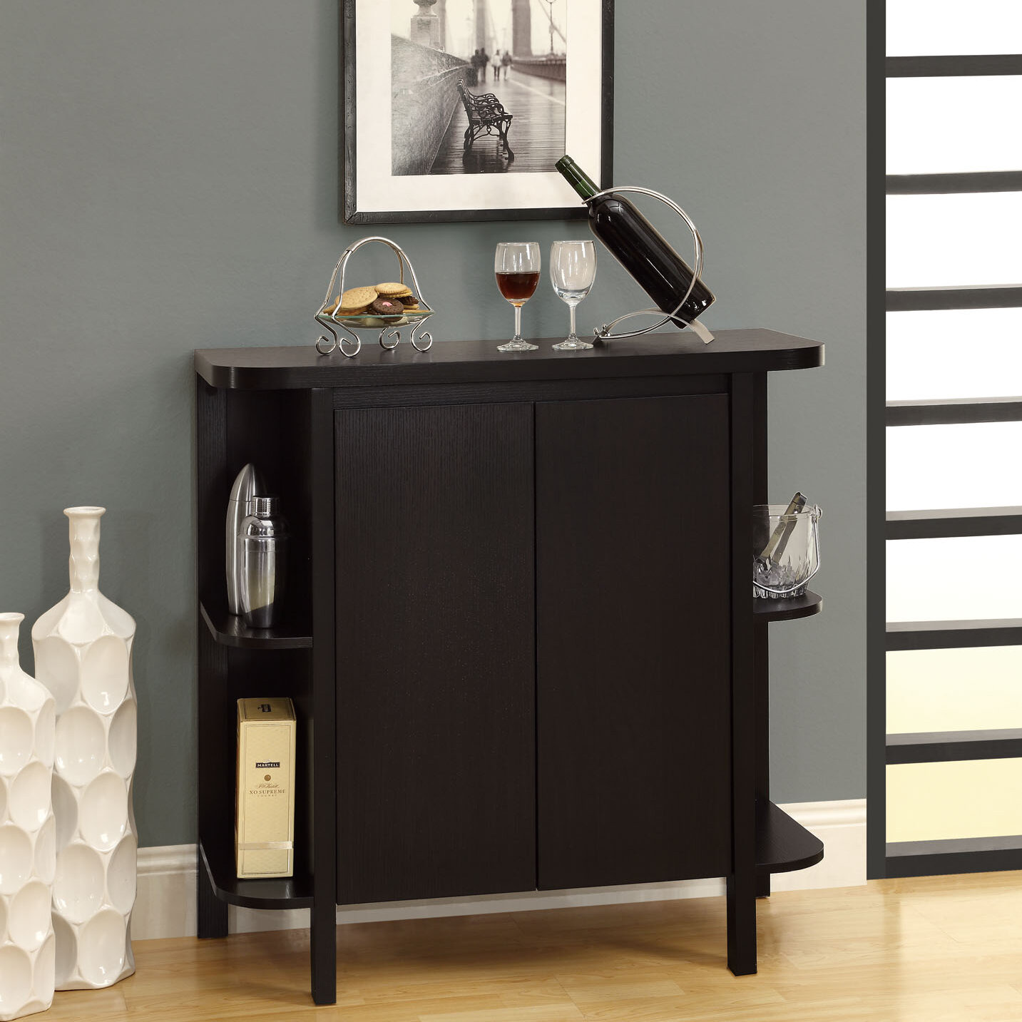 Cappuccino or white Home wine bar furniture