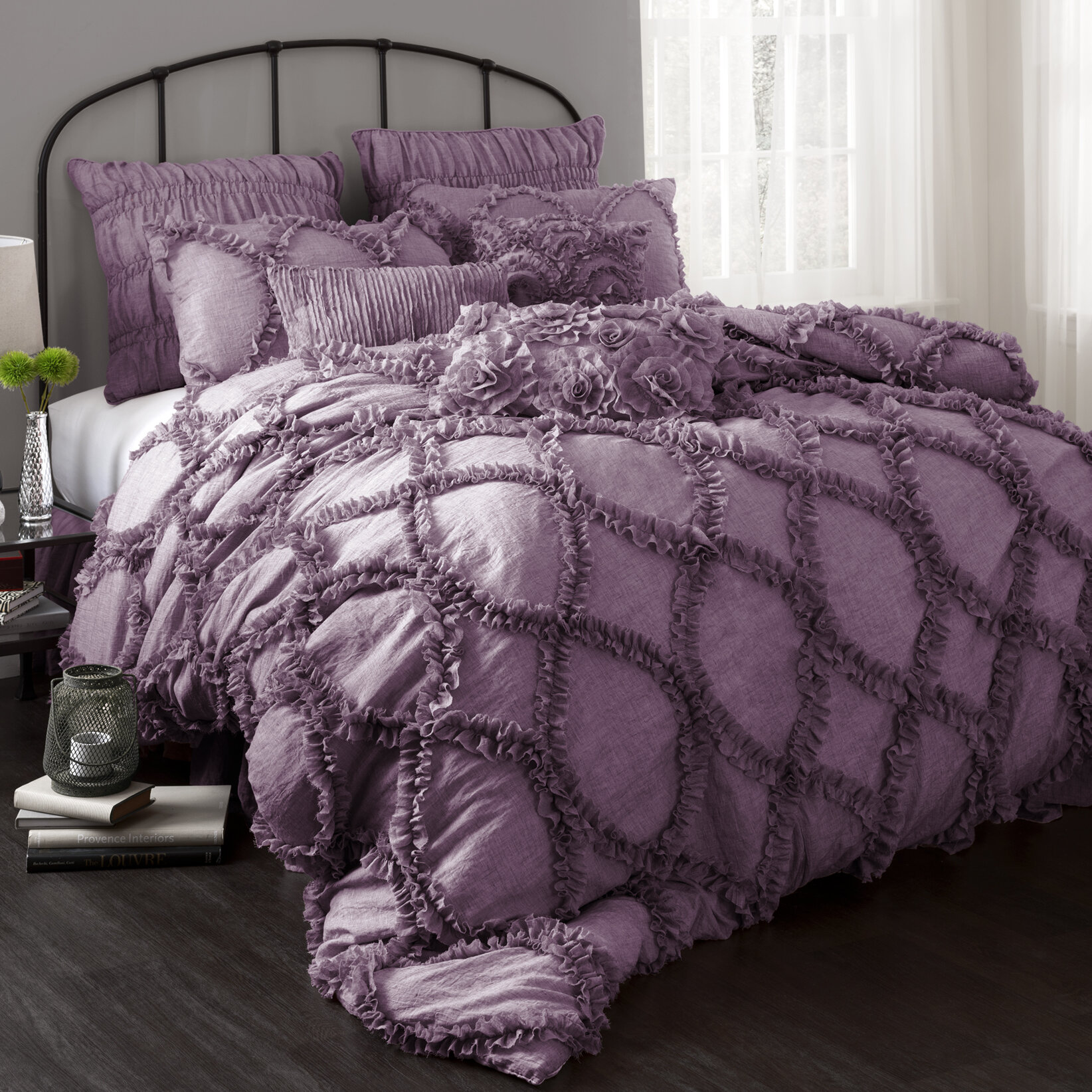 Purple comforter sets purple bedroom ideas for Bedroom decor sets