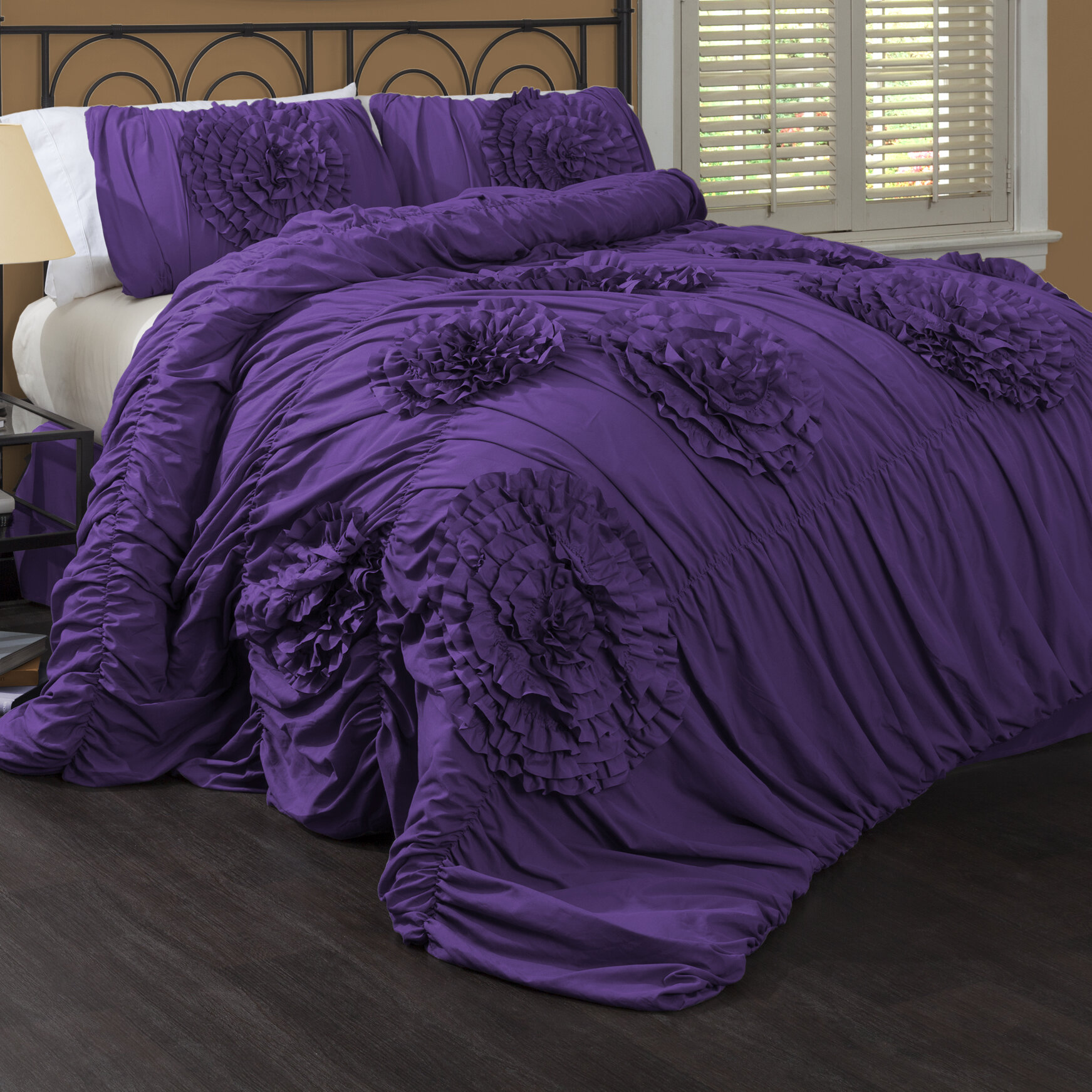 Purple Comforters Walmart Special Edition By Lush Decor Serena Piece Comforter