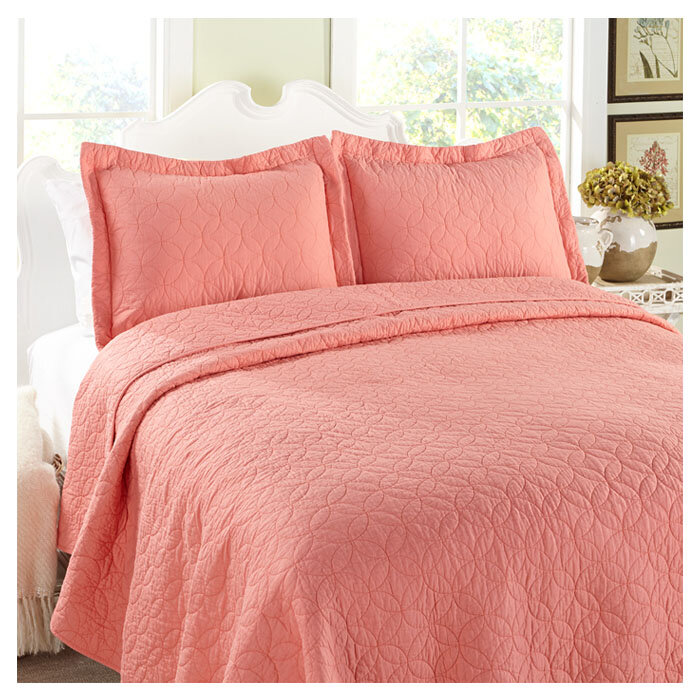 Laura Ashley Home Quilt Set in Coral