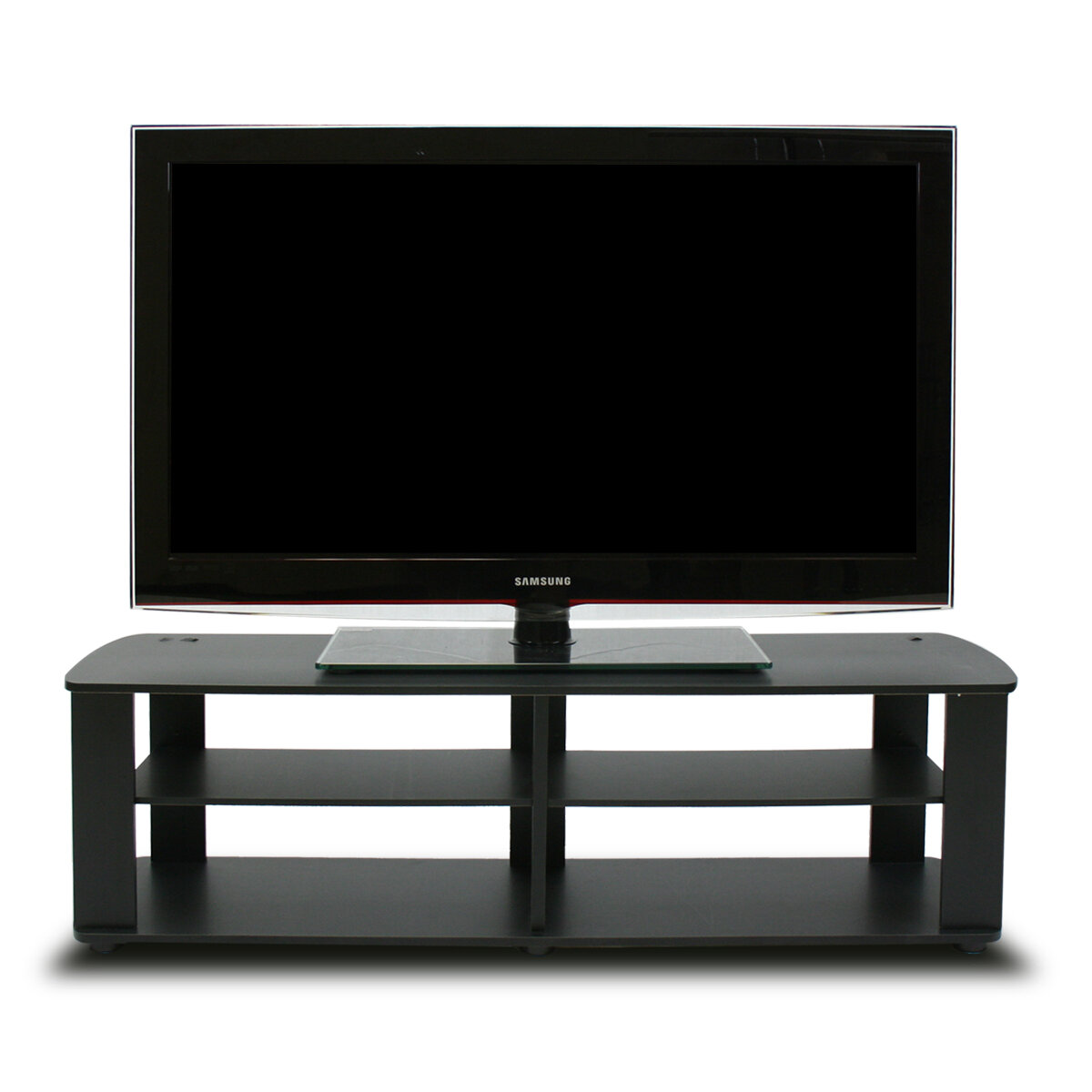 Black Tv Stand Media Entertainment Center 42 50 60 Inch