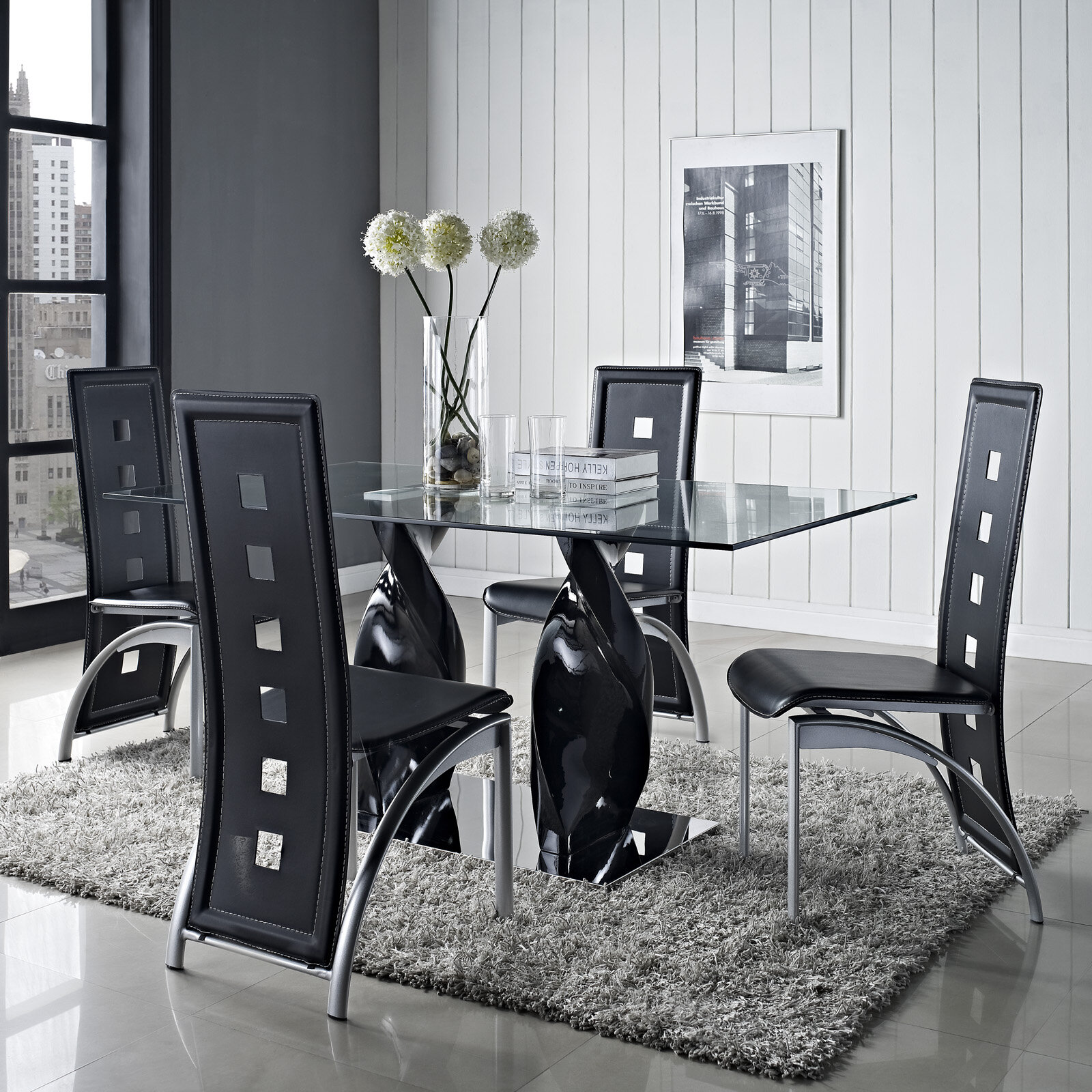 No Credit Check Modway Quarry 5 Piece Dining Set