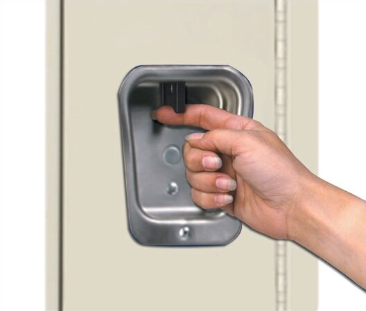 Recessed Handle Locker Hallowell