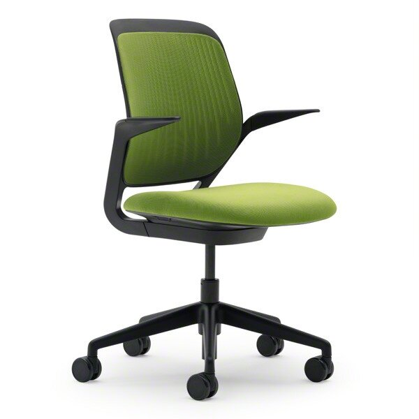 Green computer chair Steelcase