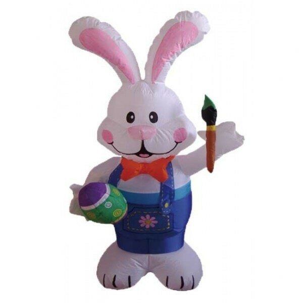 Inflatable Rabbit Holding Paintbrush Decoration