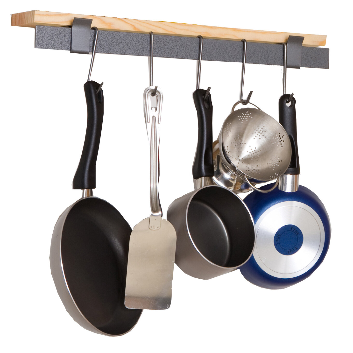 Enclume® Decor Wall Scroll Rack : Decorative wall mounted pot rack for kitchen webnuggetz