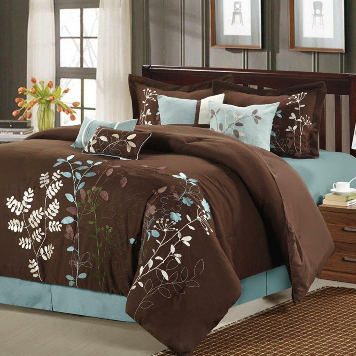Teal Bedroom Decor Teal And Brown Bedding