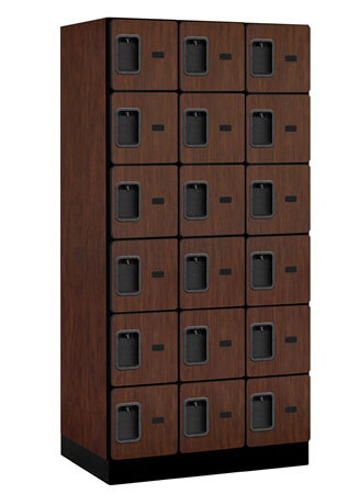 6 Tier Wood Panel Locker Salsbury Industries